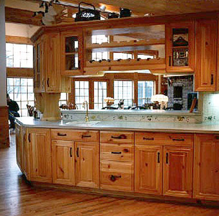 Peninsula with Upper Cabinets